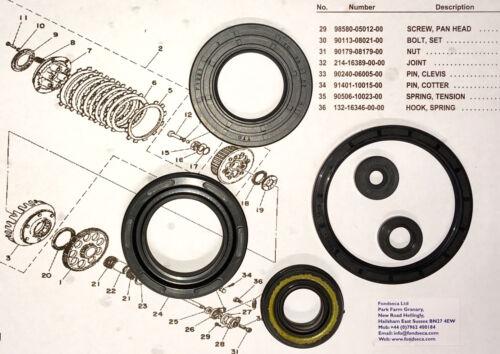 YAMAHA TZ350 TZ250 TD3 SEAL SET..... SIX (6) PIECE ENGINE SEAL SET  FREE UK P+P