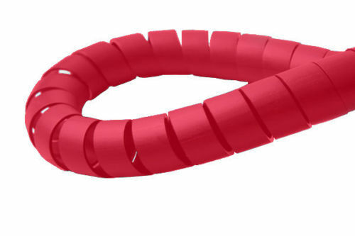 Spiral Binding Cable Tidy Wrap 12 mm Home Office TV PC Wire Management-Red