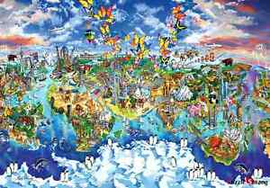 Jigsaw puzzles 1000 pieces world map of world wonders maria image is loading jigsaw puzzles 1000 pieces 034 world map of gumiabroncs Images