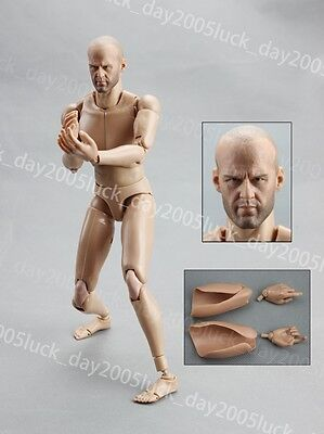 Very HOT Caucasian Male Narrow Shoulder Body w/ Jason Statham Head Figure B015
