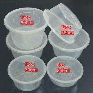 Tinas conatiner con tapa de plástico 500ml