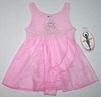 Moret Leotard Dress Skirt Skirtall Heart Rhinestones Babydoll Pink Girl