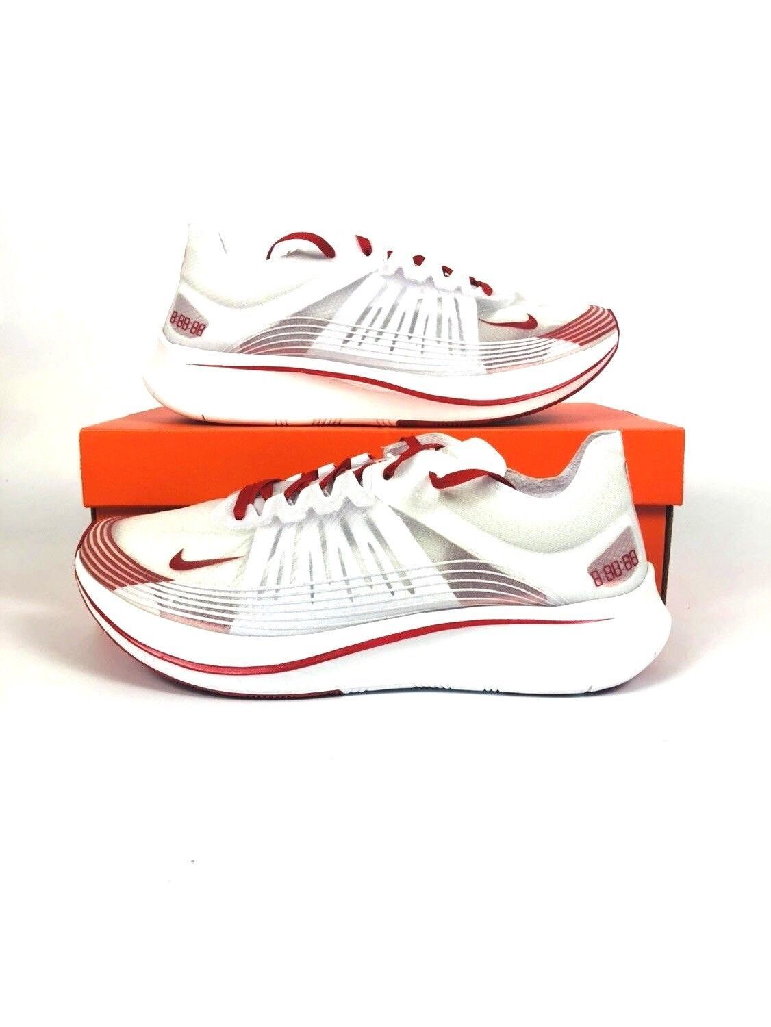NIKE ZOOM FLY SP RUNNING SHOES TOKYO WHITE  CLEAR UNIVERSITY RED AJ9282-100
