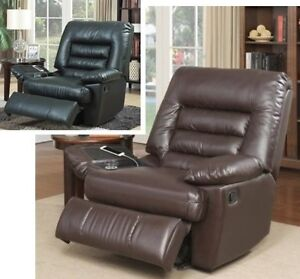 large brown leather chair big amp tall brown black leather massage recliners armchair 16352 | s l300