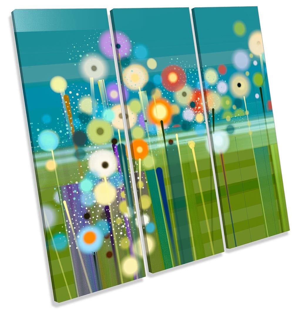 Modern Modern Modern Grün Floral Flowers TREBLE CANVAS WALL ARTWORK Print Art 372d0b