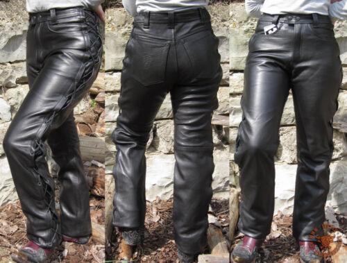64 Biker Pelle Pantaloni schnürbar Schnürlederjeans Lederhose Pantaloni Moto Scorpione Mis
