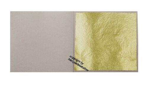 20 Blatt Echtes Blattgold 23 Karat Echtgold 3,8 x 3,8 cm Naturgold Vergolden