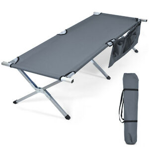 Folding-Camping-Cot-Heavy-duty-Camp-Bed-W-Carry-Bag-for-Beach-Traveling-Vocation