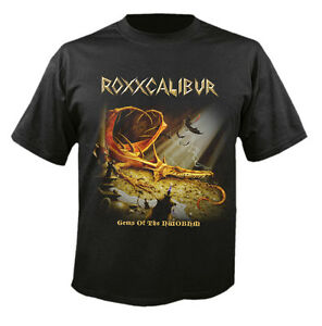 ROXXCALIBUR-Gems-Of-The-NWOBHM-T-Shirt-size-L-NWOBHM-Trespass-Mythra-Legend
