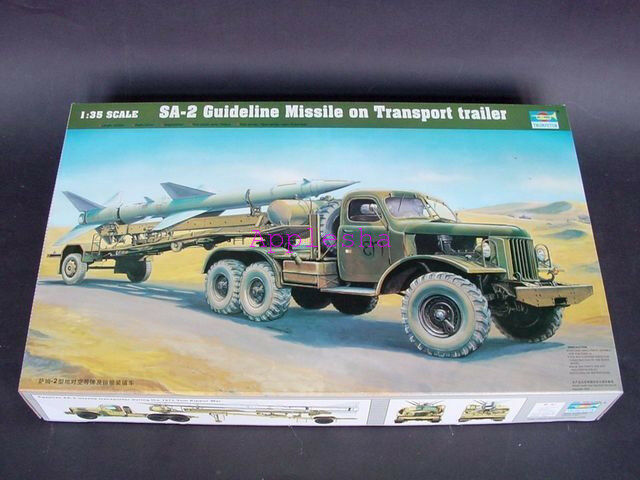 Trumpeter 00204 1 35 SA-2 Missile on Transport Trailer