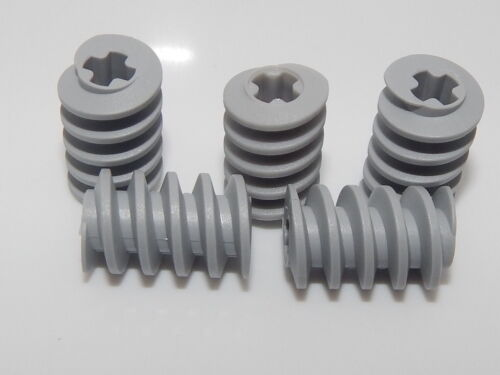 Gear Worm Screw Lego Lot Of 5 Light Bluish Gray Technic