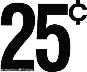 """4 1/"""" VINTAGE STYLE 5 c CENT VENDING DECAL BLACK MACHINE CUT VINYL TRANSFER"""