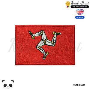 ISLE-OF-MAN-UK-County-Flag-Embroidered-Iron-On-Sew-On-Patch-Badge-For-Clothes