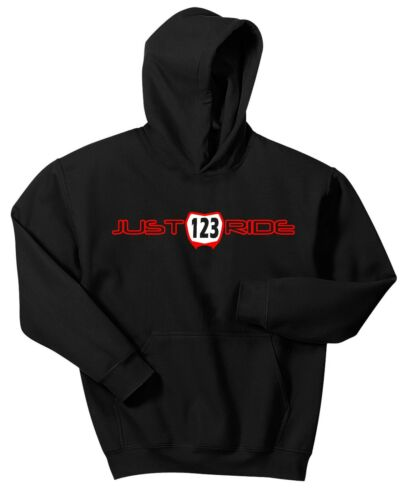 JUST RIDE YOUTH CUSTOM MX NUMBER PLATE HOODIE SWEAT SHIRT JUMPER MOTOCROSS RACE