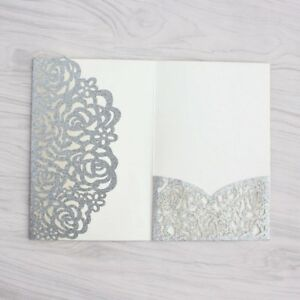 25 50pcs Personalized Laser Cut Printing Wedding Invitation