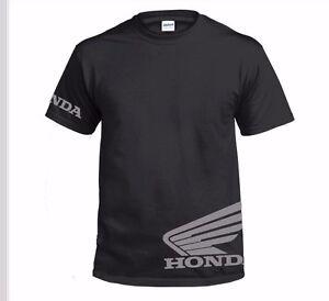 SIZE: SMALL - XXL BRAND NEW HONDA BLACK CORPORATE BIG WING MEN/'S TEE SHIRT