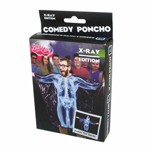 X-ray Poncho Fancy Dress Comedy Novelty Waterproof Festival Camping Rain Cover