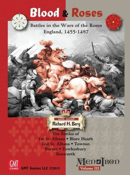 BLOOD & ROSES - War of the Roses - Men of Iron III - GMT - New in Shrink - Rare