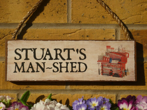 PERSONALISED FUNNY SIGN OWN NAME SIGN TOOL SHED SIGN MAN SHED SIGN TOOLS OUTDOOR