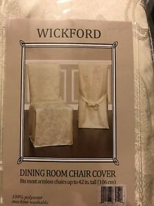 Armless Dining Chair Slipcover Taupe