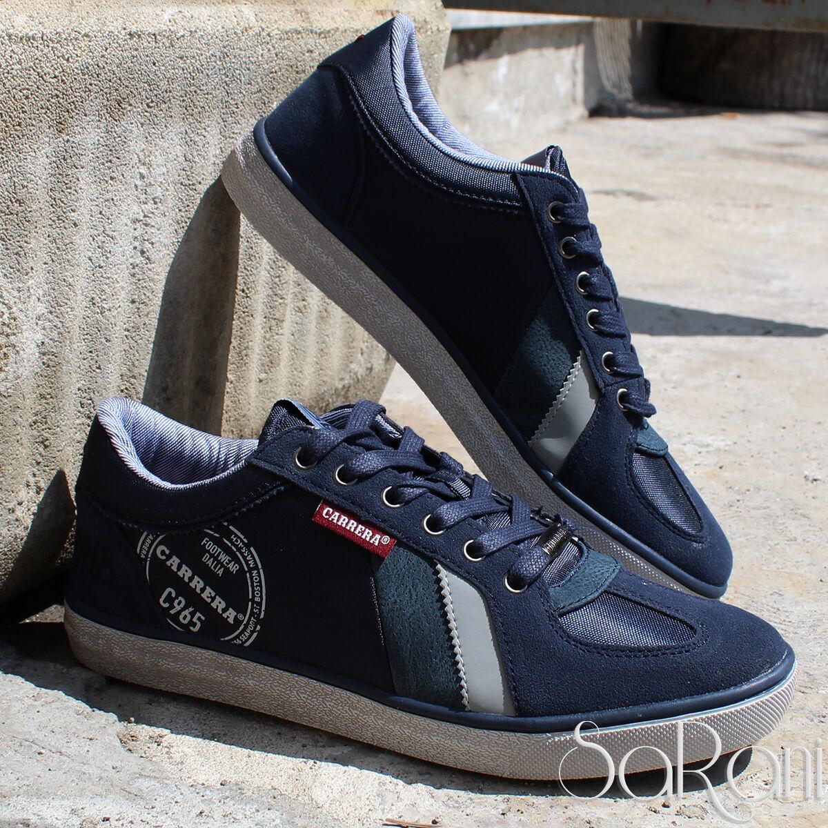 shoes men Carrera Sneakers Basse blue Sportive Camoscio Lacci Stringhe SARANI