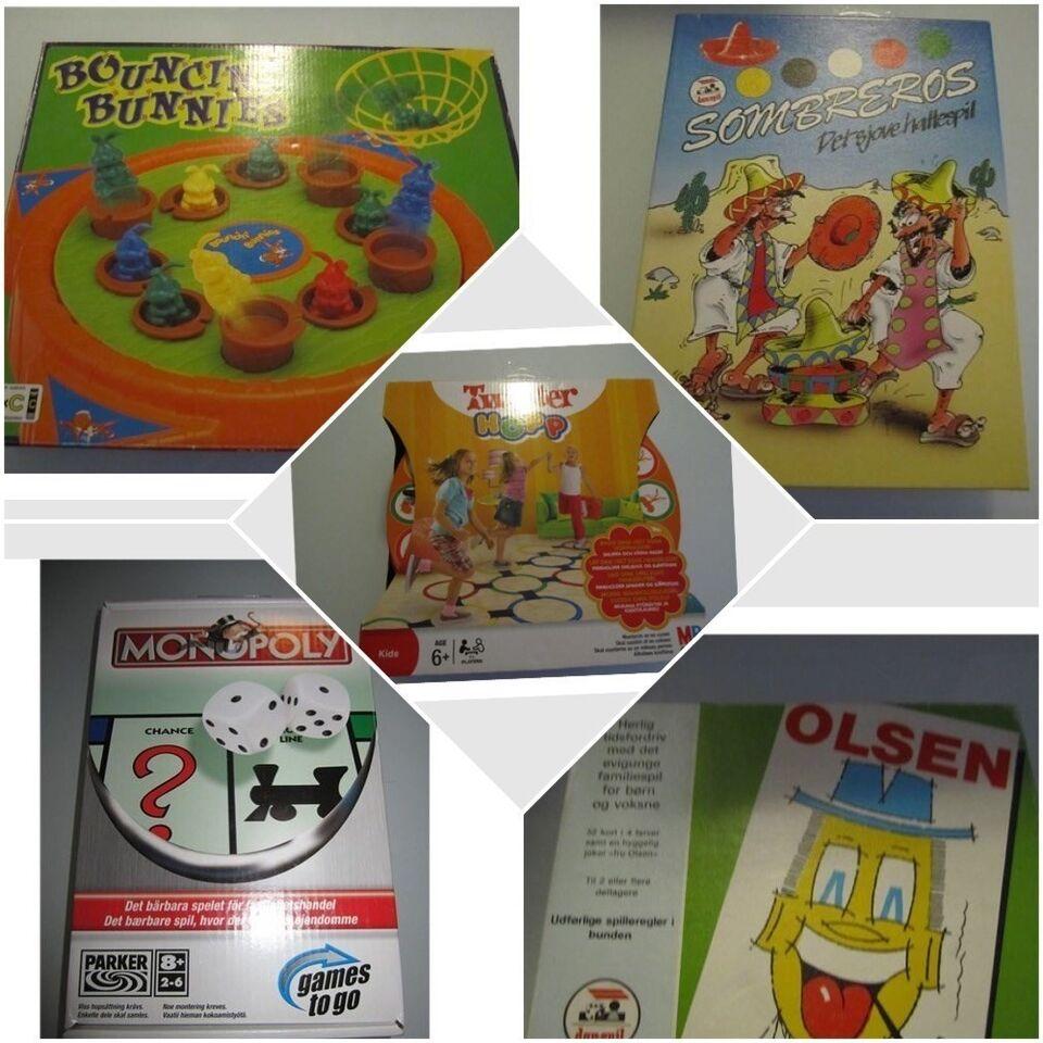 Olsen, Monopoly, Twister Hopp