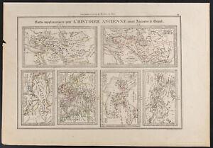 Dynamique 1840 - Cartes Ancienne Histoire Alexandre Le Grand (dufour & Picquet)