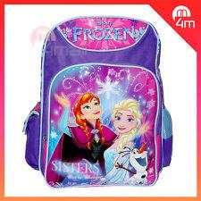Kids Girls Large School Bag Campus Shoulder Backpack Frozen Elsa Anna Olaf Gift