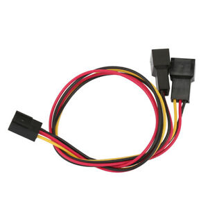 3-Pin to 2 x 3-Pin PC Computer Case Fan Cable 2 pcs