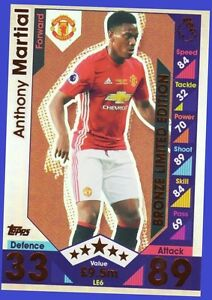 Match Attax 2016 2017 TOPPS LE6 ANTHONY MARTIAL Gold Limited Edition 16 17