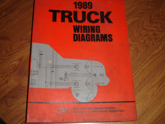1989 Ford Ranger Bronco Ii 2 Truck Electrical Wiring