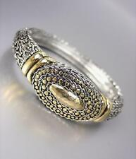 CLASSIC Designer Style Silver Gold BALINESE Weave Cable Dots Bangle Bracelet