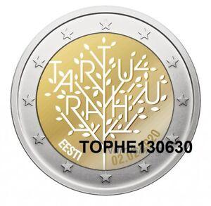 ESTONIE-COMMEMORATIVE-2020-034-TRAITE-DE-TARTU-034-2-EURO-NEUVE-UNC