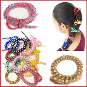 Image Is Loading Hair Bobbles Bands Spiral Stretchy Thick 039