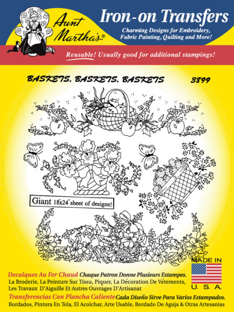 Fanciful Flowers #410 10/% Off Aunt Martha/'s Iron-on Embroidery Patterns