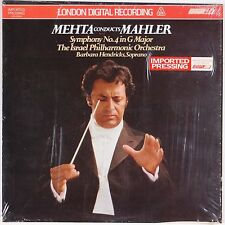 MAHLER: Symphony No. 4 Mehta Israel Phil. Orch LONDON Digital NM 2x LP