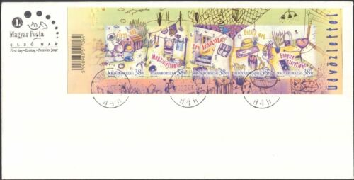 Hungary 2002 Greetings/Dog/Heart/Presents/Plants/Animation 5v s/a FDC (s305)