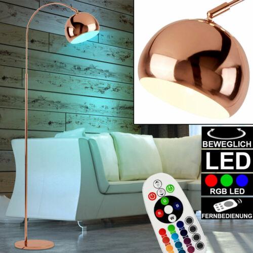 LED Bogen Leuchte RGB Farbwechsel Dimmer Stand Steh Lampe kupfer Spot beweglich