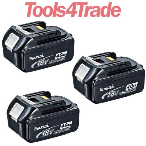 Origine Makita BL1840 Triple Pack 18 V 4.0Ah LXT Li-Ion Makstar Batterie avec Star