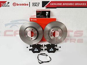 BMW-E90-E91-E92-320-320D-325-DELANTERO-DISCOS-DE-FRENO-BREMBO-300MM-Original-Almohadillas-Sensor