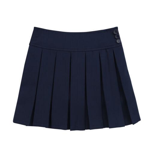 Girls Kids Pleated Mini Skirt School Uniform Scooter Skirts Dress Skater Costume