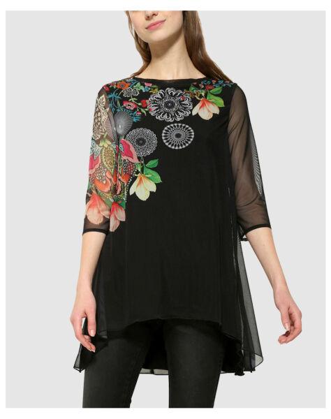 T Shirt Polo Valery Donna Manica Desigual M 17wwtkp3 Lunga Ts Nero 5dOWwq