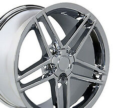 18x9.5 19x10 Chrome Corvette C6 Z06 Style Wheels Set of 4 Rims Fit Corvette