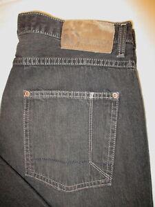 Nautica-Loose-Fit-Jeans-Mens-Straight-Leg-Black-Denim-Size-34-x-32-Mint