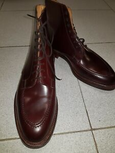 Nouveau-m-t-o-Cuir-Shell-Cordovan-Crockett-and-Jones-Galway-bottes-chaussures-CORDOVAN