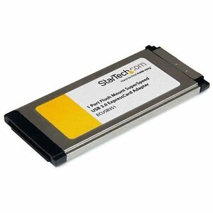 Startech-com-ECUSB3S11-1port-Flush-Mount-Slim-Excd-Expresscard-Usb-3-0