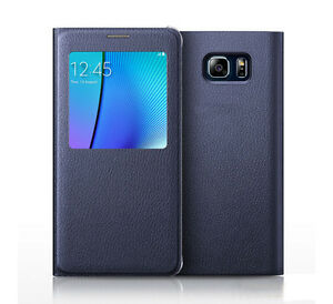 Smart-Flip-Window-VIEW-Leather-Cover-for-Samsung-Galaxy-Note-8-5-Case