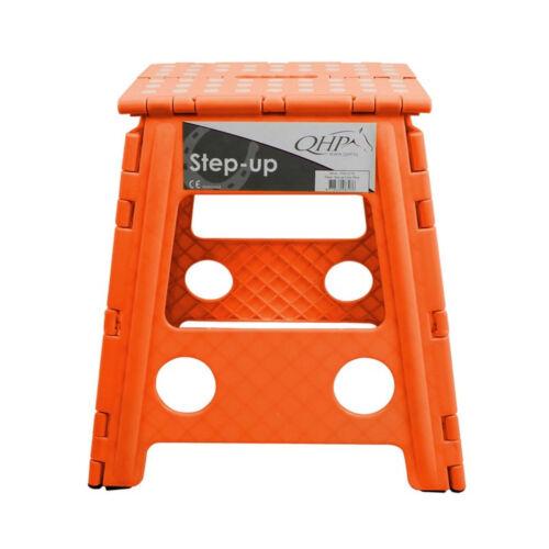 QHP Step up Hocker Aufstieghilfe Kunststoff klappbar Höhe 39 cm 8 Farben