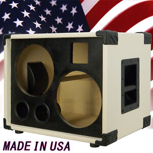 2X10 with tweeter Bass Guitar Empty Speaker Cabinet Ivory White ...