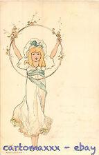 Art Nouveau - Inconnu (?) - Beautiful Woman Belle Femme - L027
